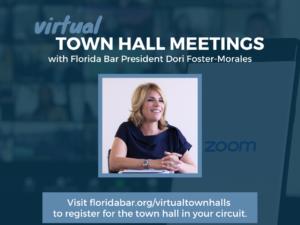 Virtual Town Hall Meetings - Generic Social Media Graphic