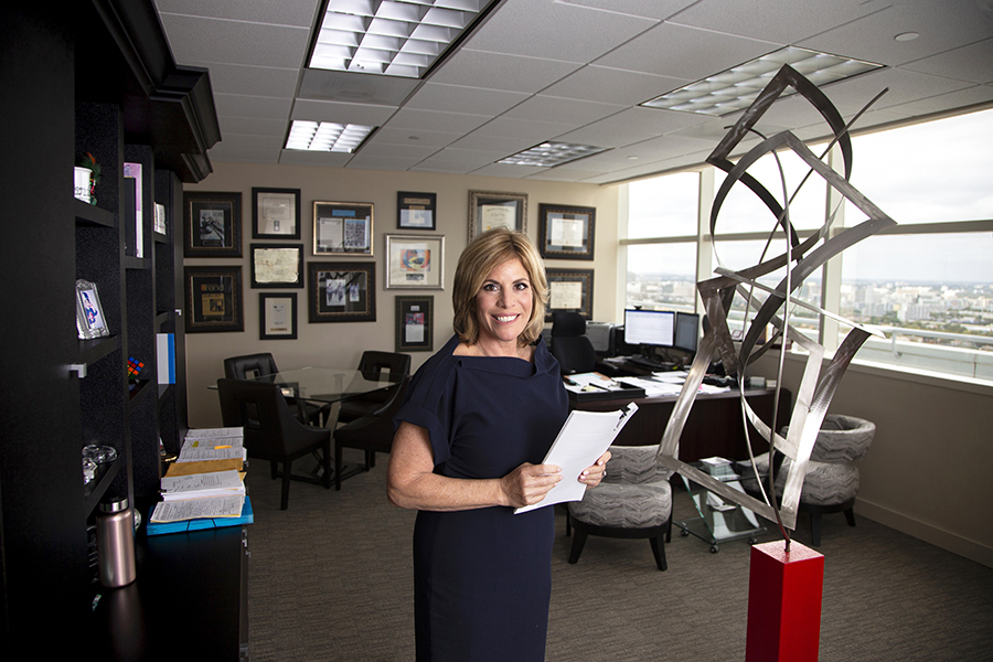 Dori Foster-Morales in her office in downtown Miami Beach