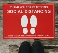 social distancing in court article