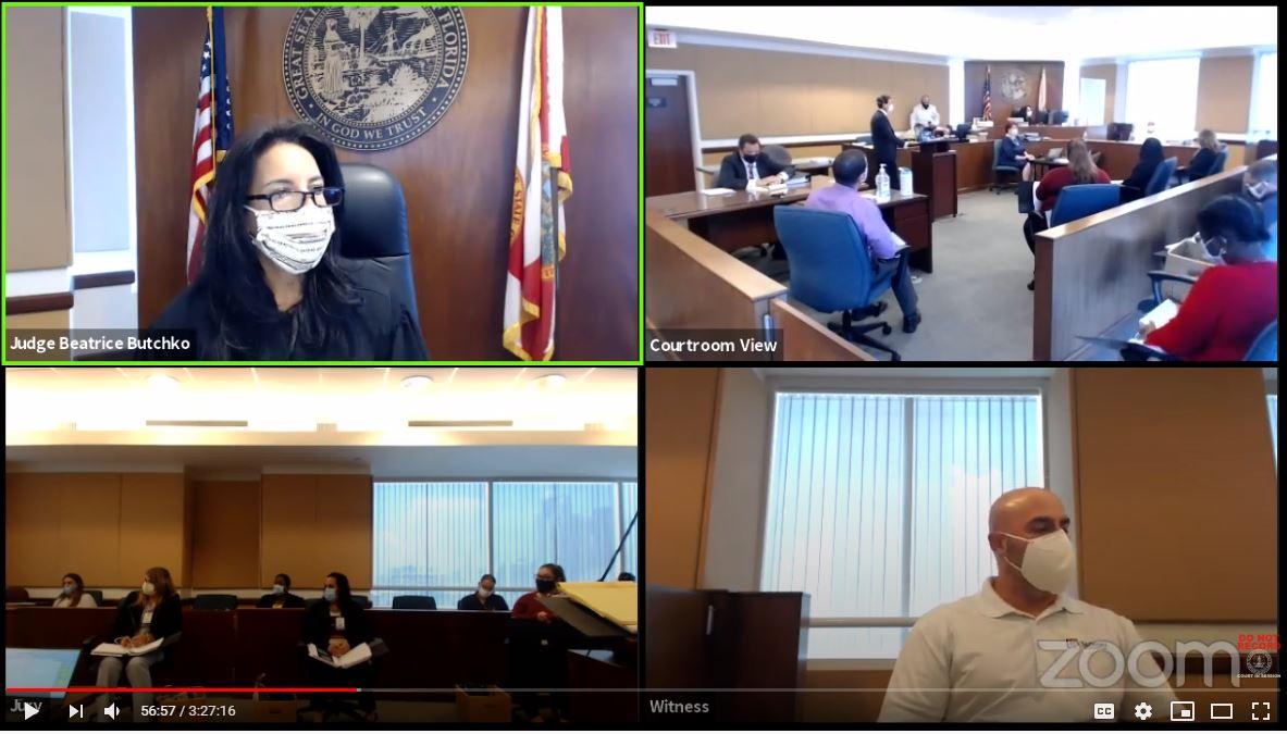 Remote jury trial