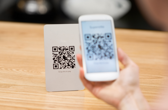 This is a QR code being used from a phone