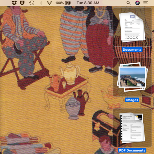 MAC OS Stacks Screen Capture