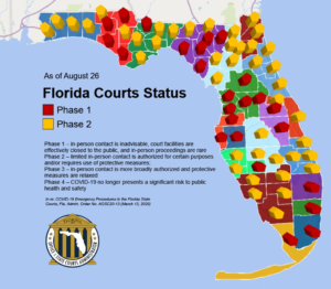 Courts phase status map
