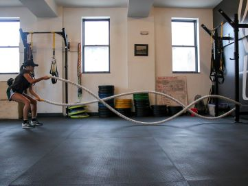 Rope slams are an example of high intensity interval training