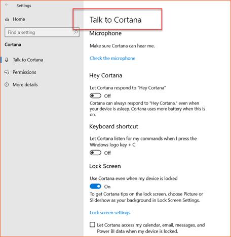 Microsoft's virtual assistance Cortana