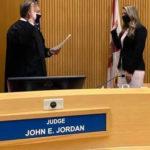 Morgan Lester was sworn in by Judge John E. Jordan