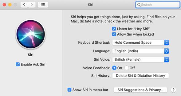 Siri on your laptop or desktop Mac