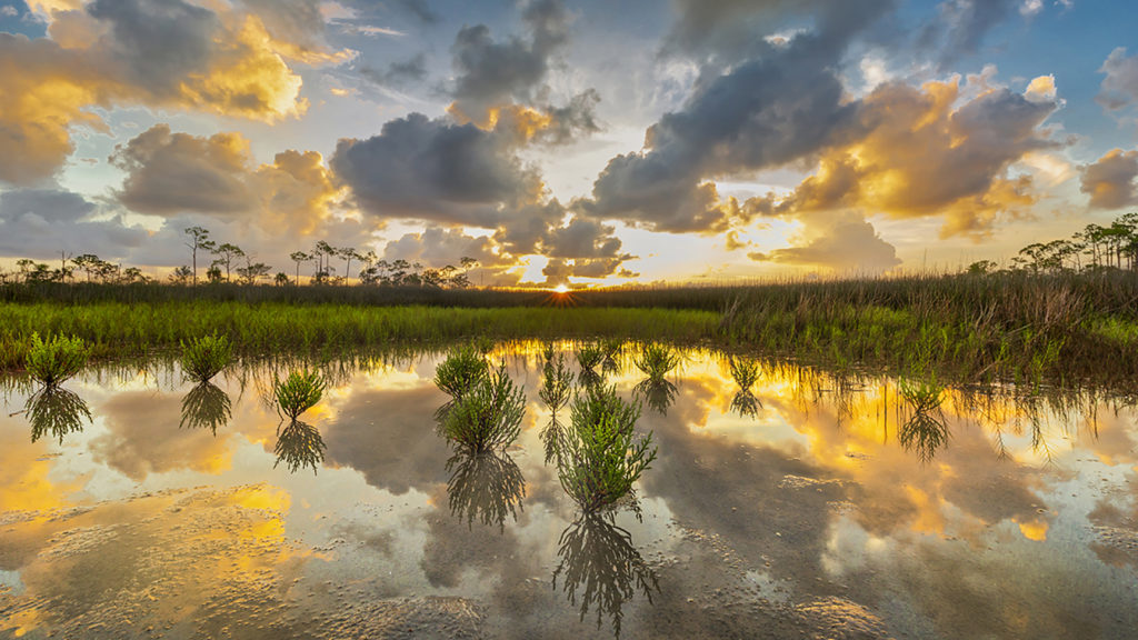 Photo of sunset over water by Randy Traynor
