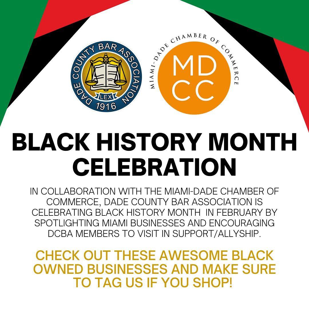 Black History Month Dade Bar