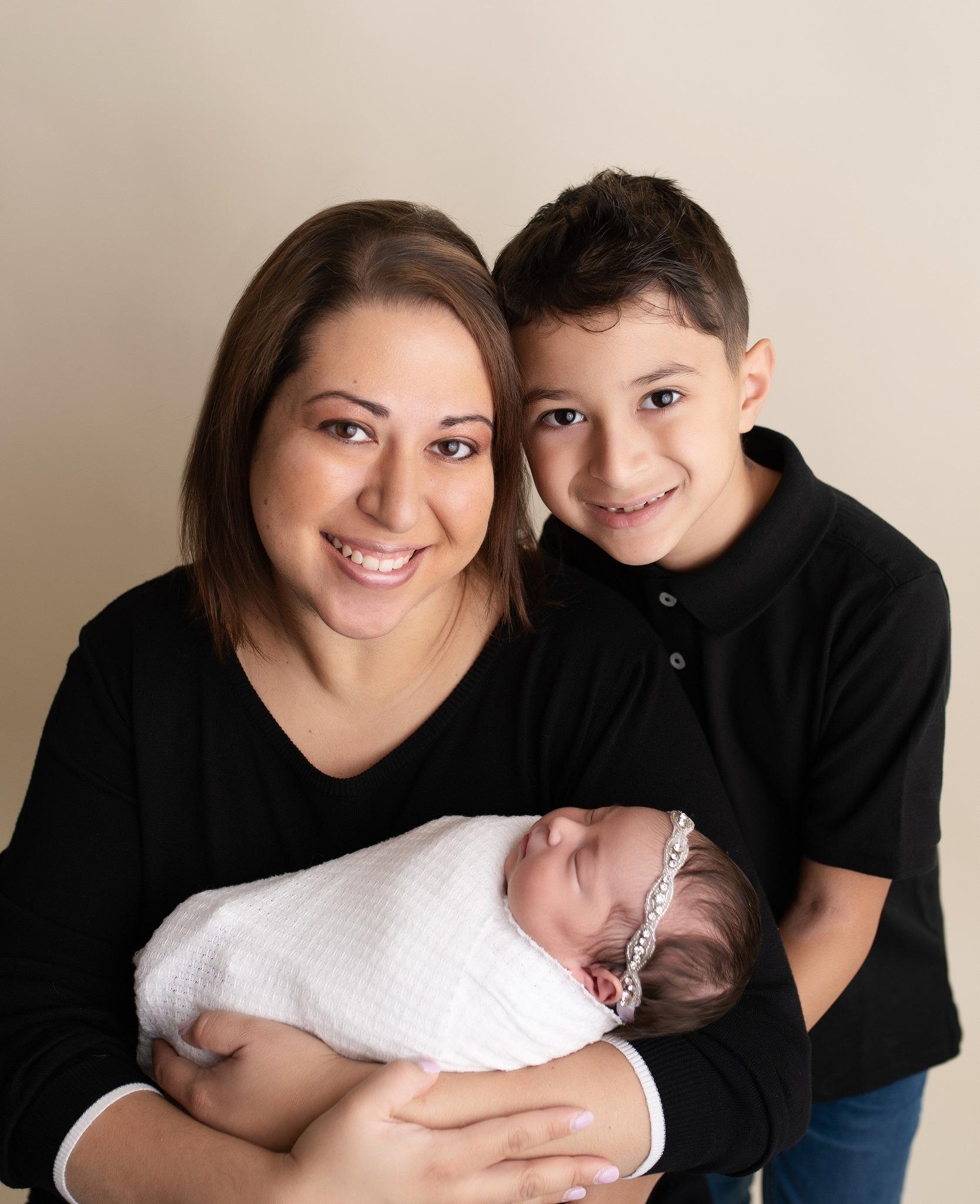 Kimberly and children