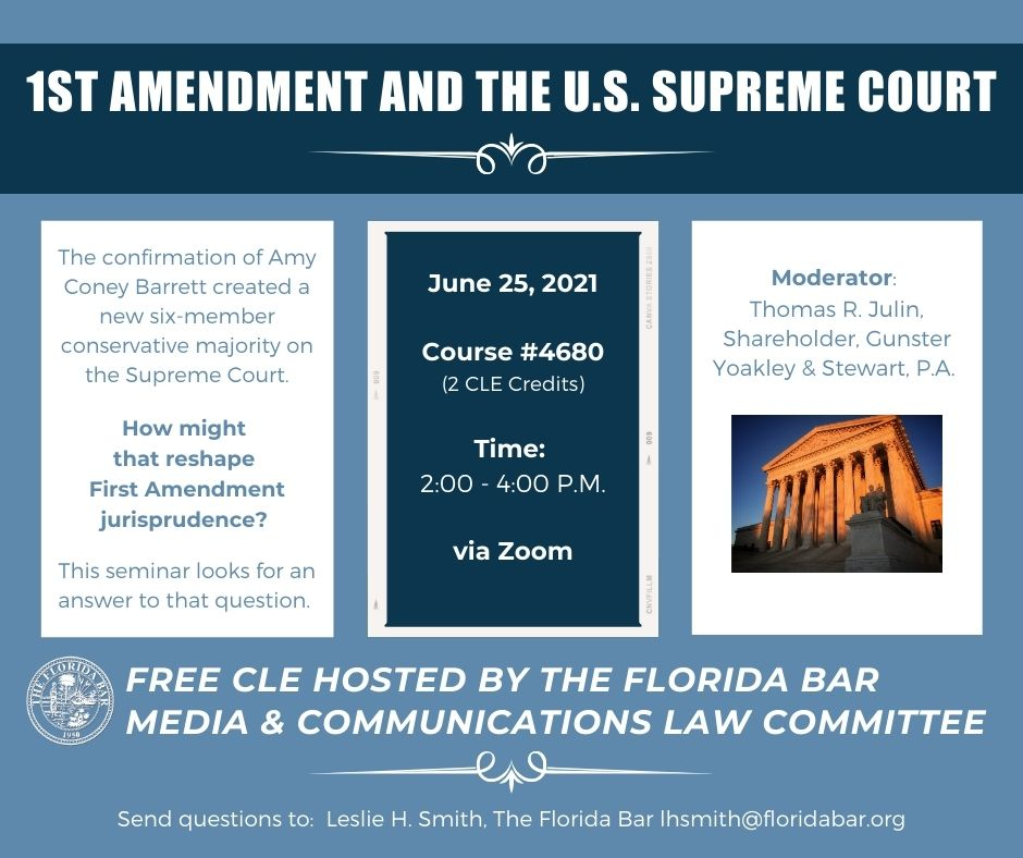 Free seminar examines the First Amendment and the U.S. Supreme Court