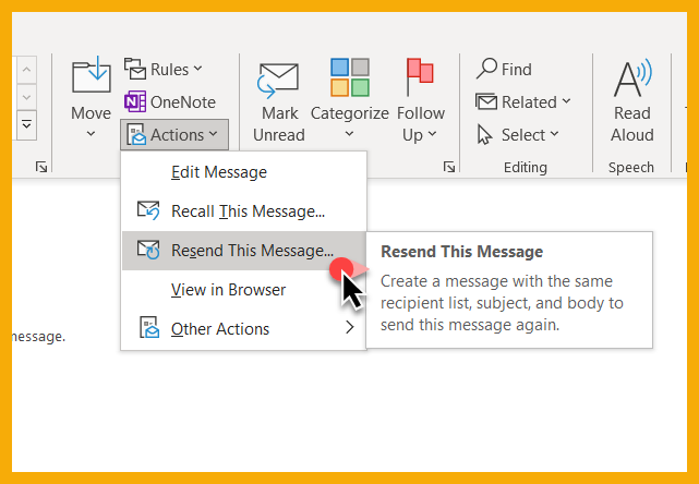 Create a message with the same recipient list, subject and body in Outlook for Windows