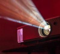Projector for giving presentations