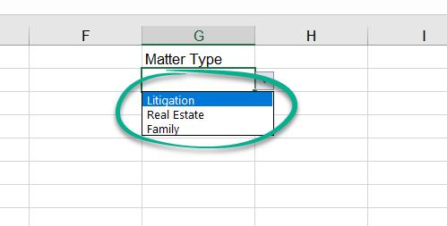 Valid Excel Drop Down