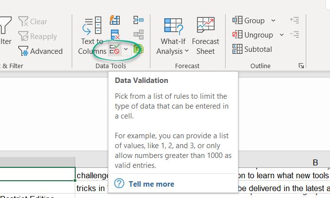 Find Excel Drop Down