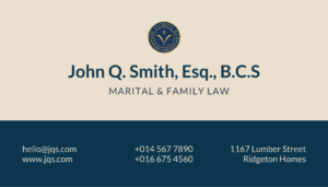 Example of a business care with B.C.S. credential