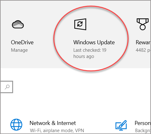 Proactively check for updates by pressing Windows key + i