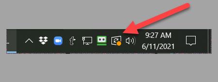 Restart Required alert in the Windows Task Bar