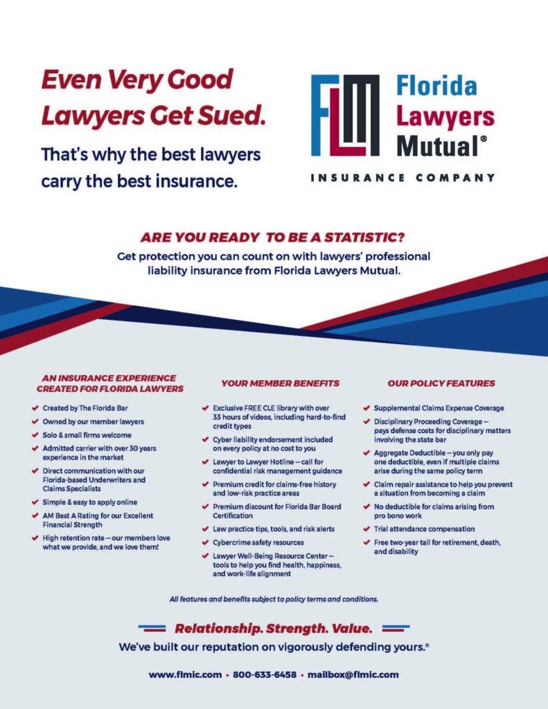 Florida Lawyers Mutual Insurance Co. flyer