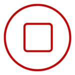 Icon signifying a stop in the process