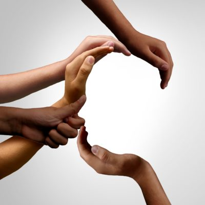 Hands reaching out to help