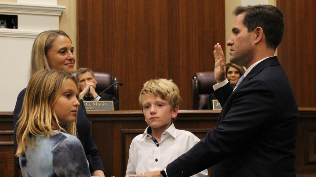 Couriel ceremonially sworn in as a justice of the Florida Supreme Court